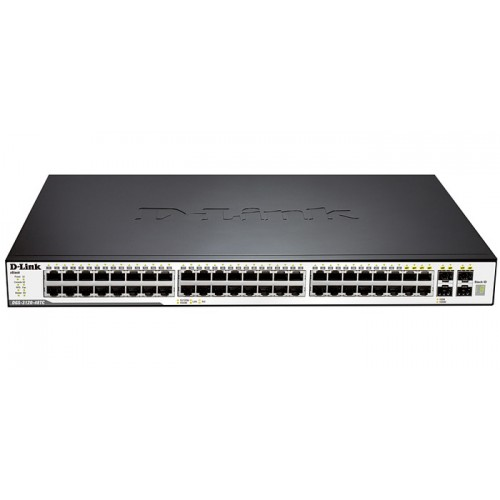 Управляемый стекируемый коммутатор D-Link DGS-3120-48TC, Managed L2+ Gigabit Switch, 40x10/100/1000B