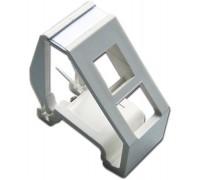 Рамка на DIN-рейку для установки модуля типа Keystone, белая Lanmaster LAN-DRF-1OK-WH