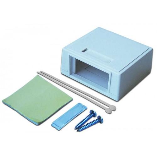 Коробка настенная на 1 модульную вставку, белая, LANMASTER LAN-MB-M2-WH