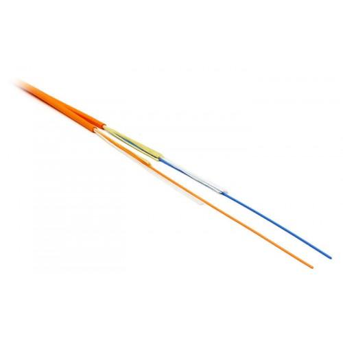 Кабель оптический (оптоволоконный) многомодовый, 50/125, 2 волокна, zip-cord, внутренний, LANMASTER,