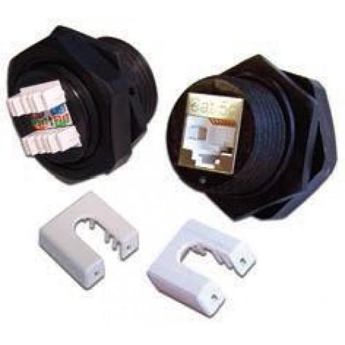 Индустриальная вставка Keystone RJ-45, категория 5e, экранированная, 180 градусов, IP67, LANMASTER LAN-OK45S5E/180-WP