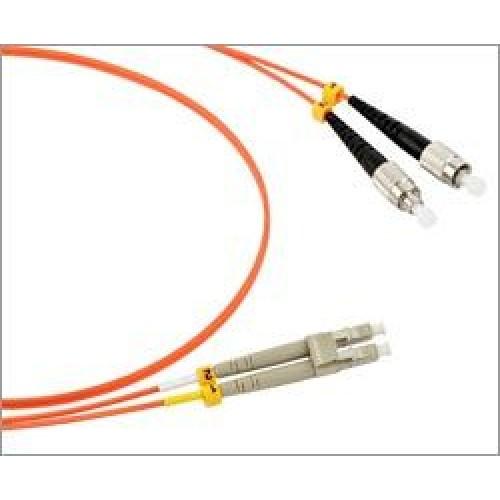 Патч-корд оптический TWT, PVC, дуплексный, LC/UPC-FC/UPC, SM OS2, 1.0 м