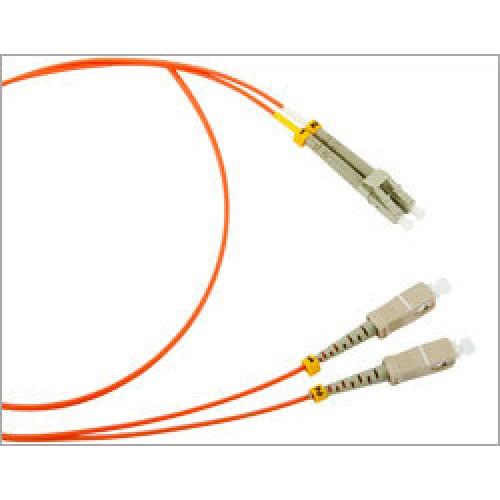 Патч-корд оптический TWT, дуплексный, LC/UPC-SC/UPC, SM, 1.0 м