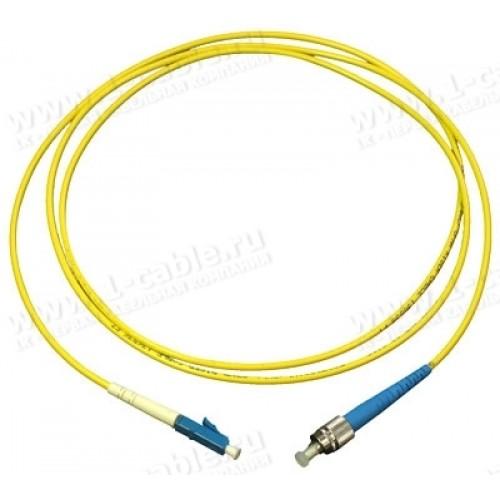 Патч-корд оптический TWT, PVC, симплексный, LC/UPC-FC/UPC, SM OS2, 0.5 м