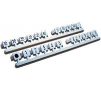 Комплект вставок с цифрами (1...0), серый TWT-LSA-M-01