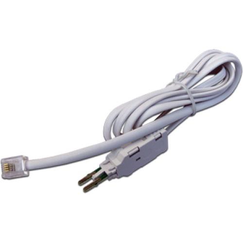 Соединительный шнур для плинтов, 4-х полюсный LSA/RJ12, 1.5м TWT-LSA-P4-12-1.5m