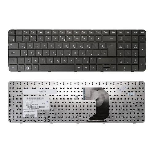 Клавиатура для ноутбука HP Pavilion G7-1000, G7-1100, G7-1200 Series. Г-образный Enter. Черная, без рамки. PN: AER18700010.