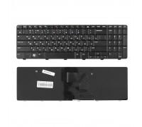 Клавиатура для ноутбука Dell Inspiron M5010, N5010 Series. Плоский Enter. Черная, без рамки. PN: NSK-DRASW 0R.