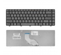 Клавиатура для ноутбука Dell Inspiron M5030, N5030 Series. Плоский Enter. Черная, без рамки. PN: NSK-DJH0R.