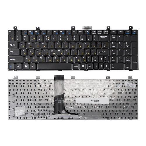 Клавиатура для ноутбука MSI MegaBook A7005, CR500, CR600, CR610, CR720 Series. Г-образный Enter. Черная, без рамки. PN: MP-08C23SU-359.