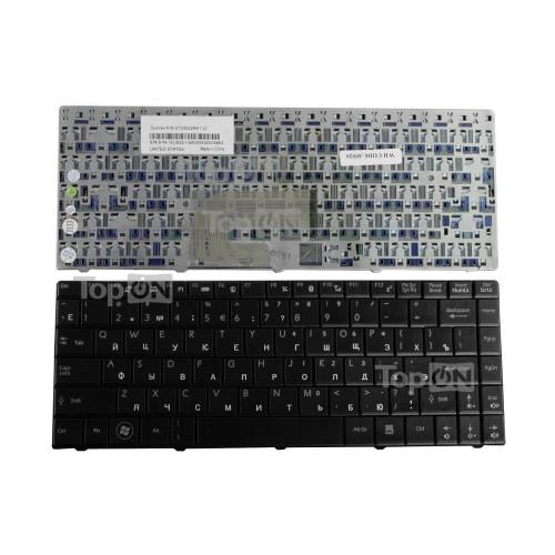 Клавиатура для ноутбука MSI Megabook CR400, CR420, CX420, EX400, EX460 Series. Плоский Enter. Черная, без рамки. PN: V103522AK1.