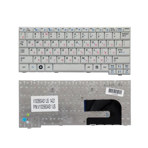Клавиатура для ноутбука Samsung NC10, ND10, N108, N110, N130 Series. Плоский Enter. Белая, без рамки. PN: BA59-02697D.