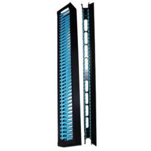 Вертикальные органайзеры повышенной емкости, 42U, для шкафов Business шириной 800 мм, 2 шт., черные TWT-CBB-DVO-42U
