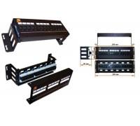 Патч-панель настенная, 12 портов RJ-45, категория 5e, UTP, горизонтальная, с фронтальным монтажом, LAN-PPF12U5E/W