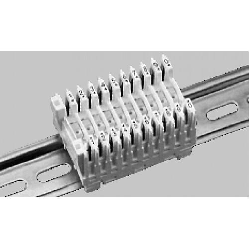 Модуль с норм-замк конт. TERMINATOR, для жил сечением 0,34–1,5 мм 2, 10–контактный. белый