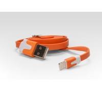 Кабель цветной Lightning для подключения к USB Apple iPhone X, iPhone 8 Plus, iPhone 7 Plus, iPhone 6 Plus, iPad, iPod. MD818ZM, MD819ZM/A. Оранжевый.
