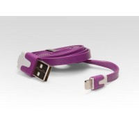 Кабель цветной Lightning для подключения к USB Apple iPhone X, iPhone 8 Plus, iPhone 7 Plus, iPhone 6 Plus, iPad. MD818ZM/A, MD819ZM/A. Фиолетовый.
