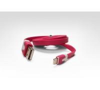 Кабель цветной Lightning для подключения к USB Apple iPhone X, iPhone 8 Plus, iPhone 7 Plus, iPhone 6 Plus, iPad, iPod. MD818ZM/A, MD819ZM/A. Розовый.
