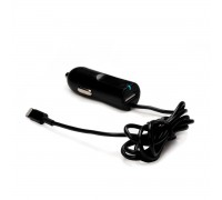 Автозарядка Lightning c USB-портом 2.1A Apple iPhone X, iPhone 8 Plus, iPhone 7 Plus, iPhone 6 Plus, iPad, iPod. Замена: HJ3J2ZM/A. Черная.