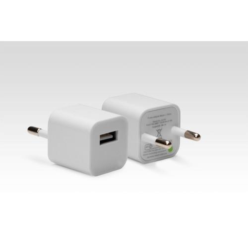 Ультракомпактное зарядное устройство на 5W для Apple iPhone, iPad, Samsung Galaxy, Xiaomi, Huawei, LG, Sony и др. Замена: MD813ZM, MD836ZM. Белый.
