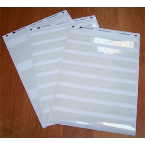 Маркер самоклеющийся, л.А4, 87х9, для патч-панелей,  белый, 56 шт/л. LAN-MPL-87x9-WH