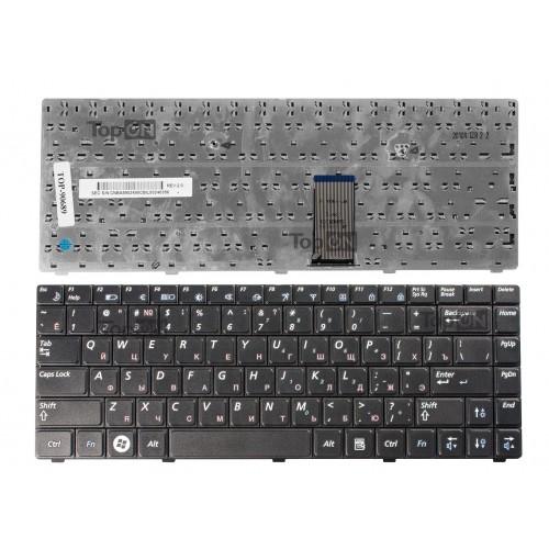 Клавиатура для ноутбука Samsung R418, R420, RV408 Series. Плоский Enter. Черная, без рамки. PN: BA59-02490C.