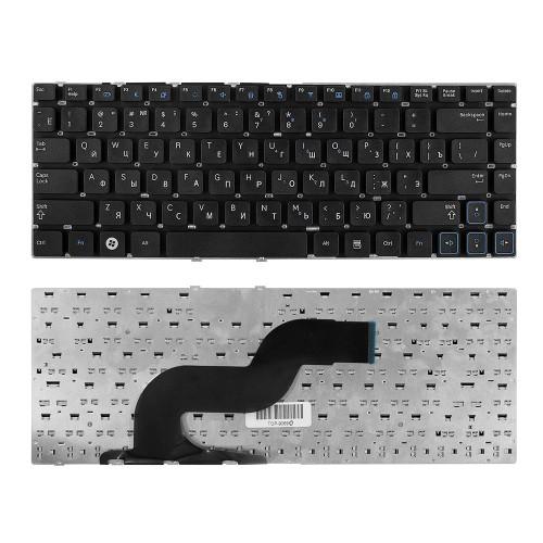 Клавиатура для ноутбука Samsung RC410, RV415, RV420 Series. Плоский Enter. Черная, без рамки. PN: BA59-02939C.