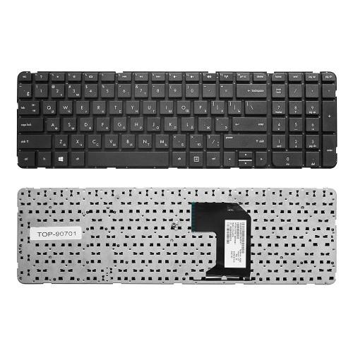 Клавиатура для ноутбука HP Pavilion G7-2000, G7-2100, G7-2200 Series. Плоский Enter. Черная, без рамки. PN: MP-11N13US-920.