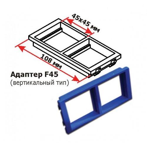 Адаптерная рамка двойная вертикальная, для настенных блоков, синяя LAN-WA-P2V-BL
