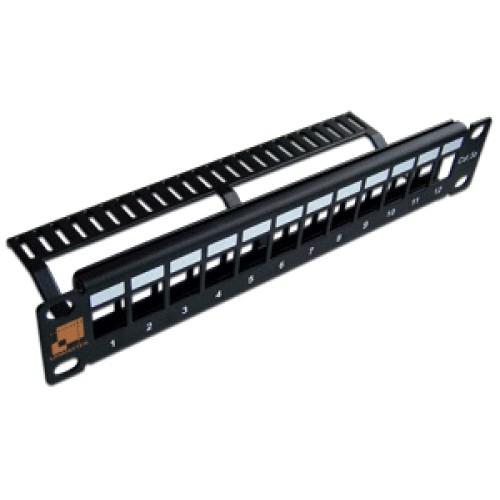 Патч-панель наборная 10, неэкранированная, 12 портов, 1U,   LAN-PP12OK-UTP/10