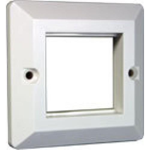Лицевая рамка для настенной коробки французского стандарта 45х45, белая TWT-WP45x45-WH