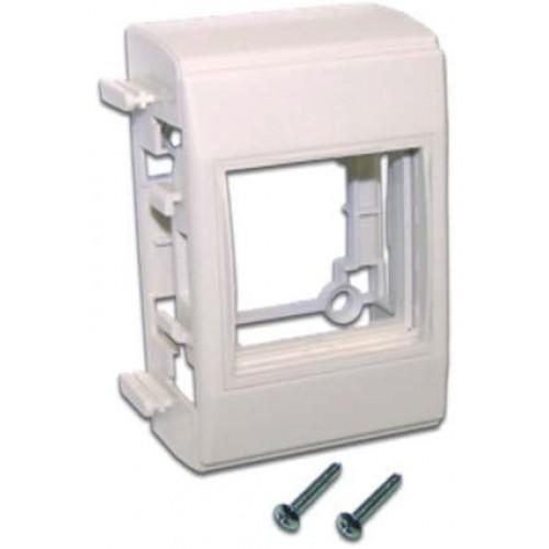 Дополнительный настенный бокс на 1 модуль Mosaic 45x45, белый LAN-WA-RMB-F45/E-WH