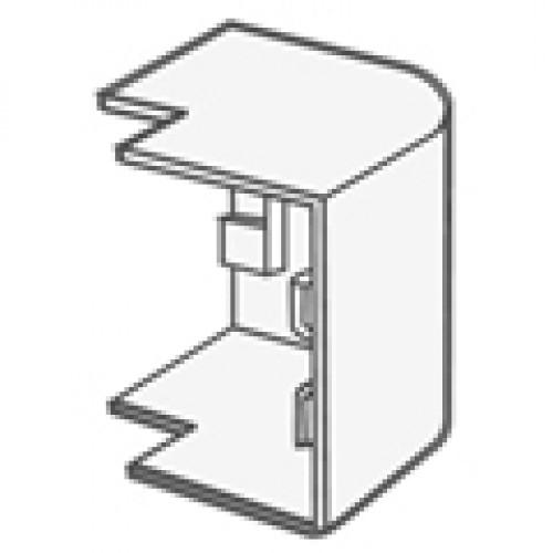 Угол внешний для кабель-канала 40х25, белый, T-plast
