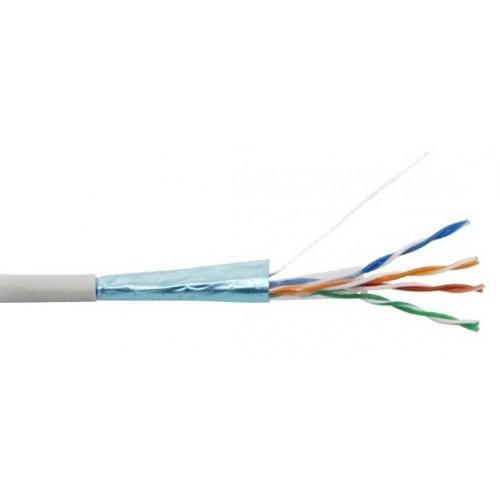 Кабель FTP CCA, 4 пары, Кат. 5e, серый, 305м в кат., NewMax NM-FTP5E4PR-CCA