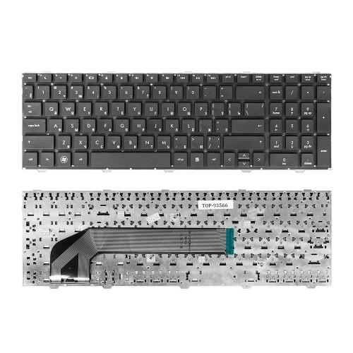 Клавиатура для ноутбука HP ProBook 4540s, 4545s, 4740s Series. Плоский Enter. Черная, без рамки. PN: 9Z.N6MSW.10R