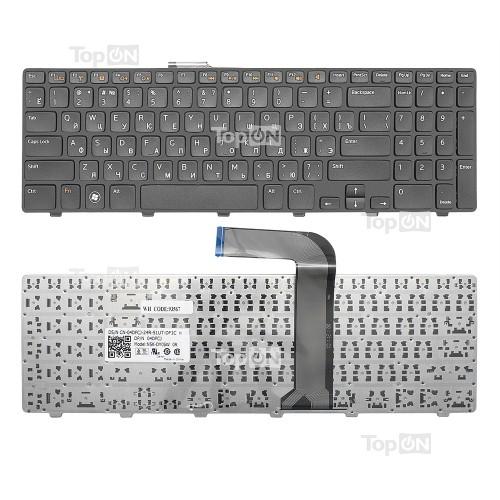 Клавиатура для ноутбука Dell Inspiron N5110, M5110, 15R, XPS 17 Series. Г-образный Enter. Черная, с черной рамкой. PN: NSK-DY0SW, 9Z.N5YSW.00R.