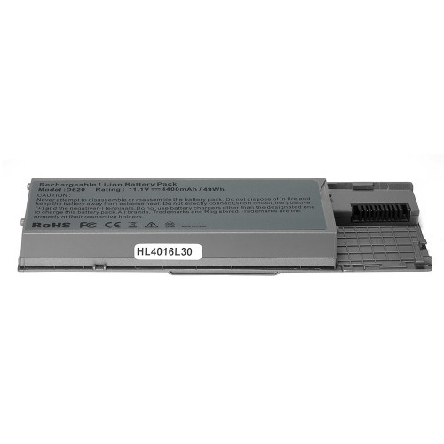 Аккумулятор для ноутбука Dell Latitude D620, D630, Precision M2300 Series. 11.1V 4400mAh PN: 310-9080, GD775 Серебряный
