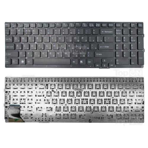 Клавиатура для ноутбука Sony Vaio VPC-SE Series. Плоский Enter. Черная, без рамки. PN: 9Z.N6CBF.20R, NSK-SE2BF.