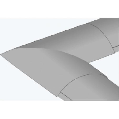 Угол плоский для напольного кабель-канала 92х20мм Legrand 032802