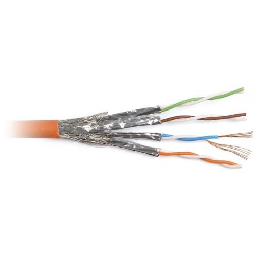 Кабель Hyperline SSTP4-C6-PATCH-INDOOR (КУСОК) S/FTP патч-кордовый, 4 пары (26 AWG), Кат. 6, FR-PVC, оранжевый