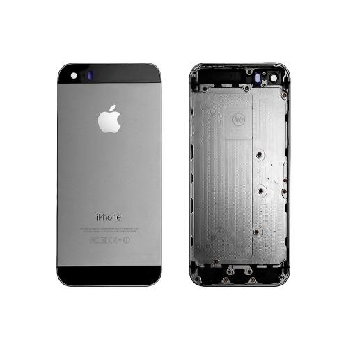 Задняя панель, корпус для смартфона Apple iPhone 5S, A+, Черная.