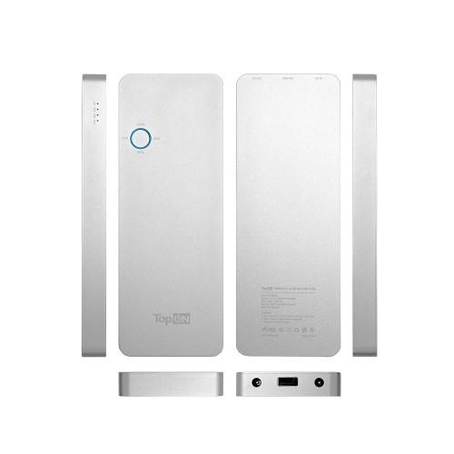 Внешний аккумулятор TopON TOP-MAC 12000mAh (44,4Wh) для зарядки ноутбука Apple MacBook Air/Pro, 10 коннекторов, MagSafe 2