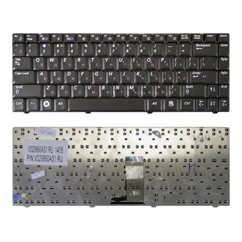 Клавиатура для ноутбука Samsung R517, R518, R519 Series. Плоский Enter. Черная, без рамки. PN: V020660AS1.