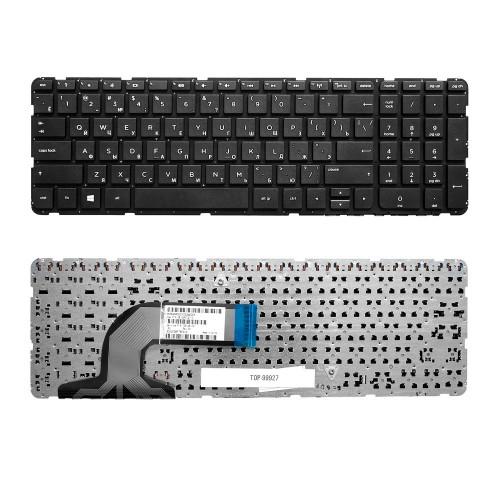 Клавиатура для ноутбука HP Pavilion 250 G3, 255 G2, 255 G3, 15-e, 15-n, 15-r Series. Плоский Enter. Черная, без рамки. PN: PK1314D1A100.