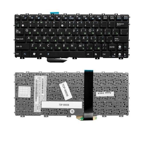 Клавиатура для ноутбука Asus Eee PC 1011, 1015, 1016P Series. Плоский Enter. Черная, без рамки. PN: 0KNA-292RU02.
