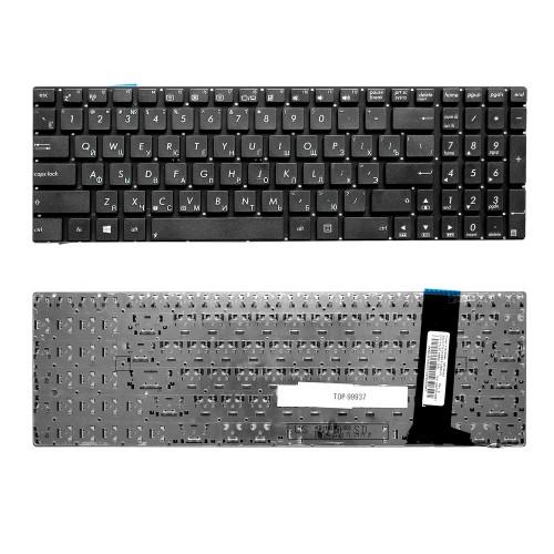 Клавиатура для ноутбука Asus G56, N56, N76 Series. Плоский Enter. Черная, без рамки. PN: 9Z.N8BBQ.G0R.