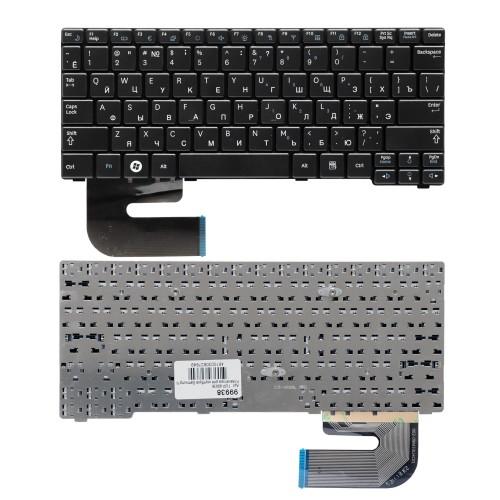 Клавиатура для ноутбука Samsung N102, N128, N140, N148 Series. Плоский Enter. Черная, без рамки. PN: BA59-02686D.