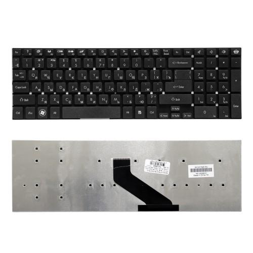 Клавиатура для ноутбука Packard Bell EasyNote TS11, TS13, TS44, LS11, LS13, LS44 Series. Г-образный Enter. Черная, без рамки. PN: MP-10K33SU-698.